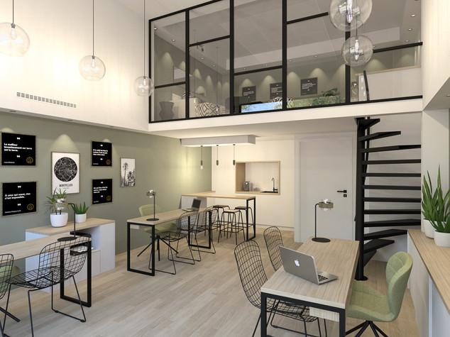 Aménagement d'une agence immobilière, Saint-Jean de Védas