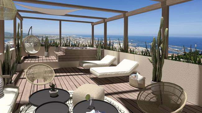 Rooftop à Sète, Design Elémentaire