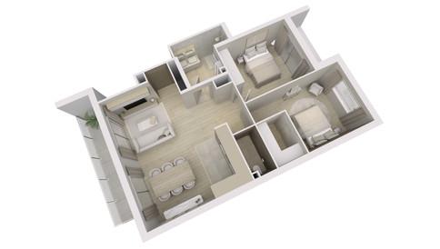 Visualisation 3D d'un appartement