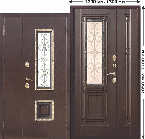 ВЕНГЕ 1200-1300ММ нестандартная дверь со стеклом