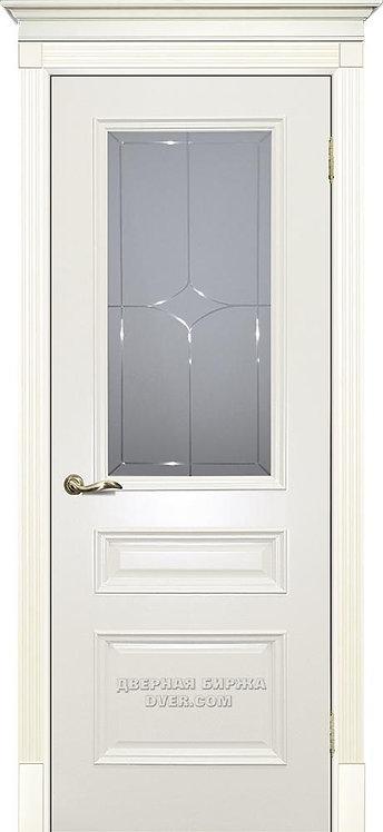 Дверь Смальта 06 Стекло Слоновая кость ral 1013