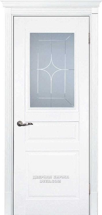 Дверь Смальта 01 Белый ral 9003 Стекло