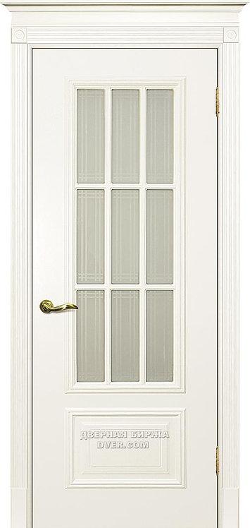 Дверь Смальта 08 Стекло Слоновая кость ral 1013