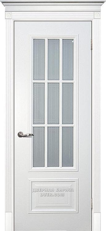Дверь Смальта 08 Стекло Белый ral 9003