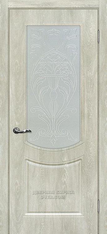 Дверь Сиена-3 Дуб седой стекло