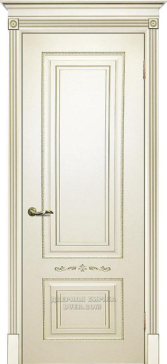 Дверь Смальта 04 Слоновая кость ral 1013 патина золото