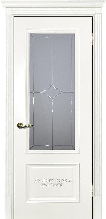 Дверь Смальта 07 Стекло Молочный ral 9010