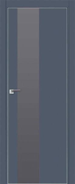 Дверь 5E Антрацит, серебряный лак