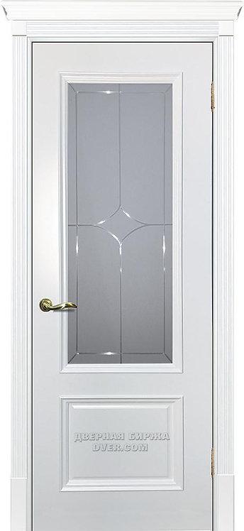 Дверь Смальта 07 Стекло Белый ral 9003