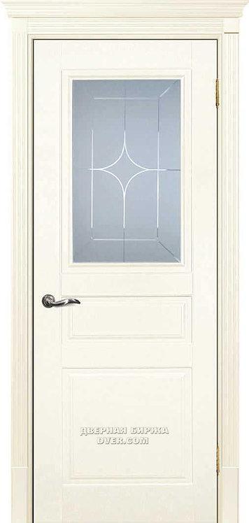 Дверь Смальта 01 Слоновая кость ral 1013 Стекло