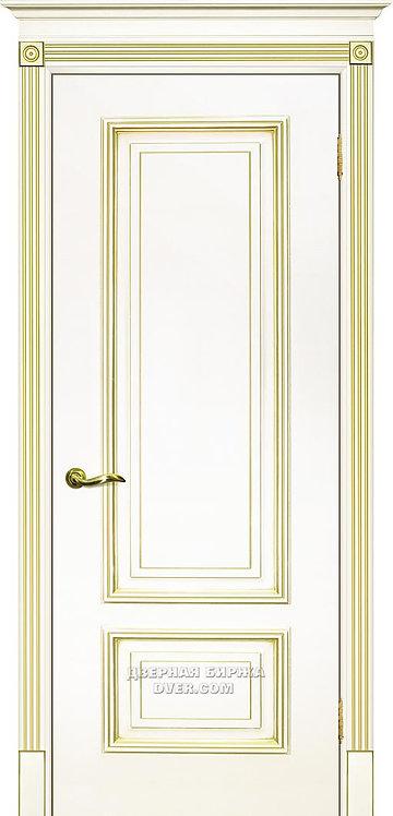 Дверь Смальта 08 Слоновая кость ral 1013 патина золото