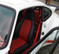 Porsche 911 SC Sportsitz mit Leder (Schwarz/Rot)
