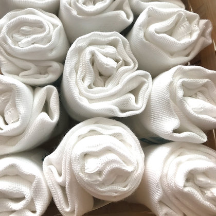 Organic Cotton Muslin Facial Cleansing Cloth