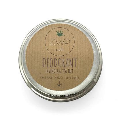 ZWP Natural Deodorant - Lavender & Tea Tree