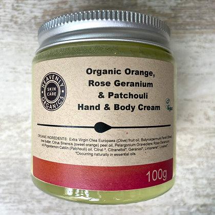 Organic Orange, Rose Geranium & Patchouli Hand & Body Cream