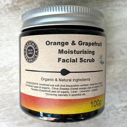Orange and Grapefruit Moisturising Facial Scrub