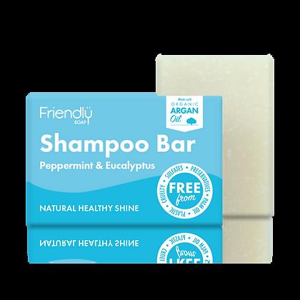 Natural Shampoo Bar Peppermint Eucalyptus (Friendly Soap)