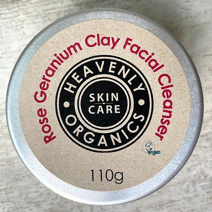 Rose Geranium Clay Facial Cleanser
