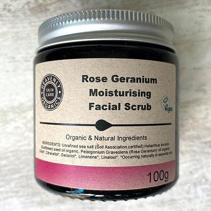 Rose Geranium Moisturising Facial Scrub