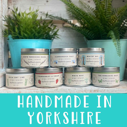 The Yorkshire Candle Company - Large Handmade Candle Tins