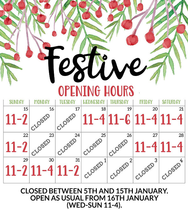 festive opening hours Scarborough Fresh Natrals