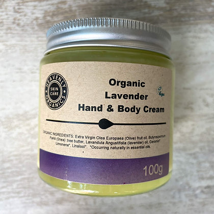 Organic Lavender Hand and Body Cream