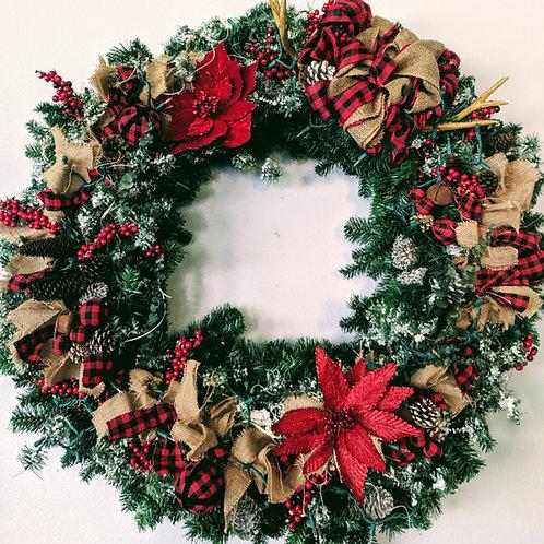 "40"" Rustic Christmas Wreath"