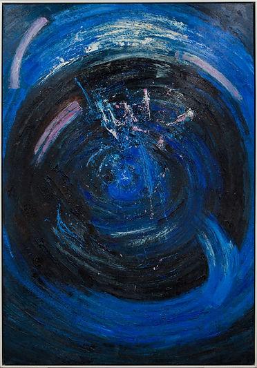Deep Blue Space_49x72_oil on canvas_fram