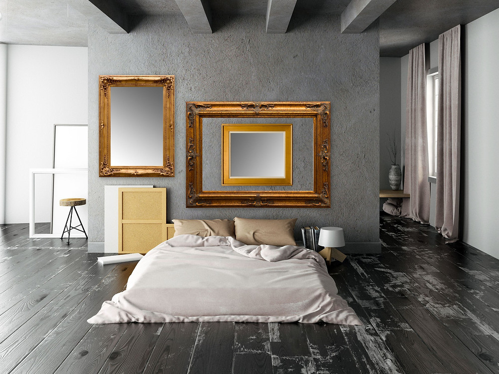 vintage frames, antique frame for modern bedroom