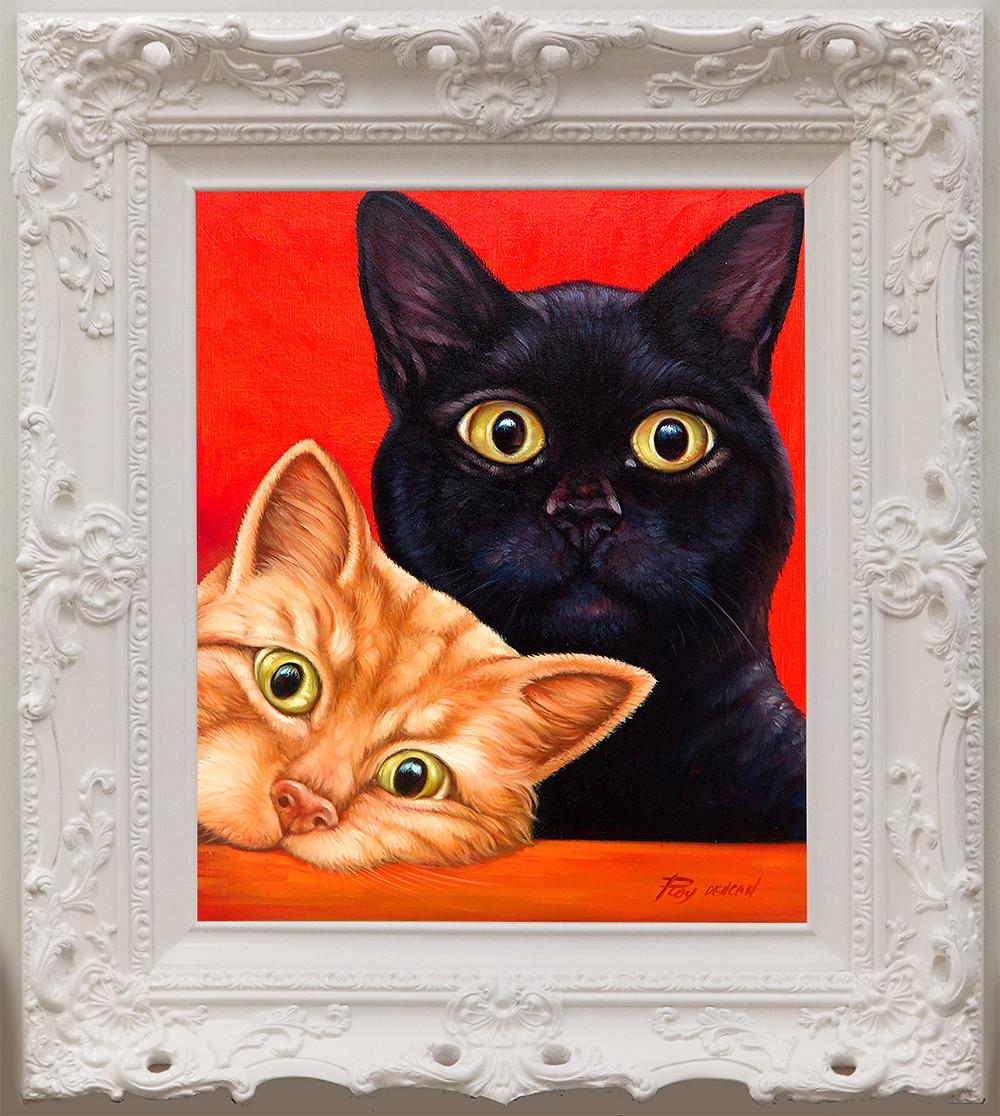 ornate colourful frame, ornate white frame, antique white frame