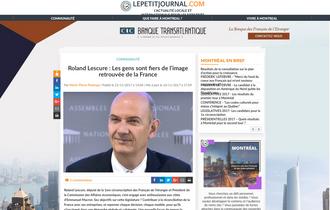 Roland Lescure : Les gens sont fiers de l'image retrouvée de la France