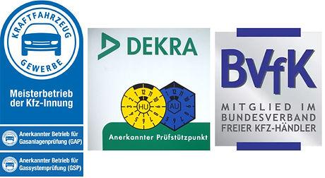 Kfz-Innung, Dekra HU AU, BvfK, Mitgliedschaft Verbände