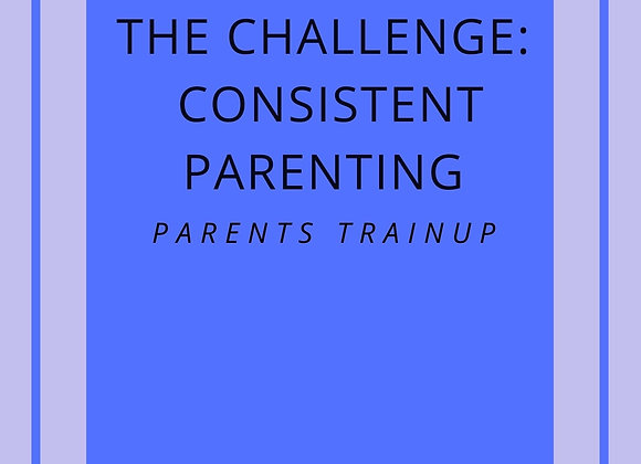 The Challenge: Consistent Parenting - ebook