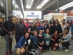 Participants at Munich train station 201