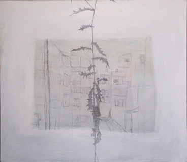 Longing, acrilic and pencil on canvas, 52/60 cm, 2013