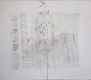 Longing, acrilic and pencil on canvas, 52/60 cm, 2013