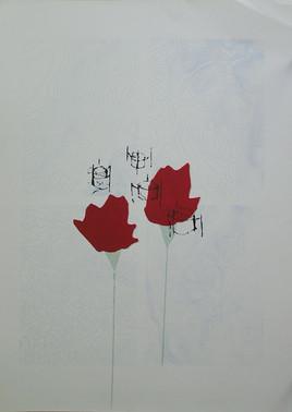 A memory of sound, screen print, 50q70 cm, 1994