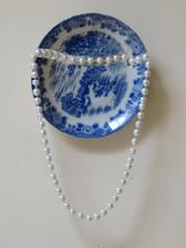 The Japanese set - Repair / Tikun, plate & artificial pearls, 23 / 13 cm, 2017