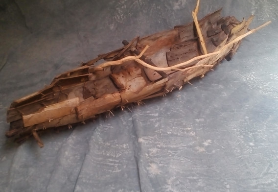 Lifeboat, tree barks & branchs, 220/50/40 (ap), 2017