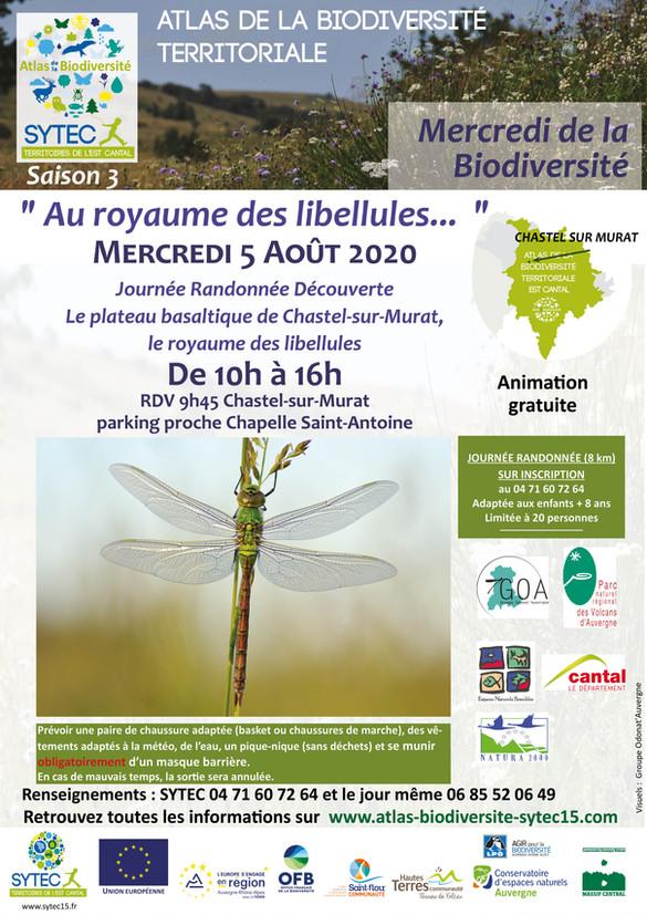 Mercredi de la Biodiversité - Prochain RDV  le 05 août 2020!