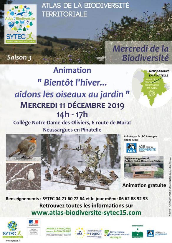 Comment aider les oiseaux au jardin ? Mercredi de la Biodiversité à Neussargues-en-Pinatelle