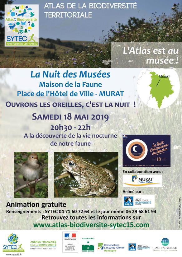L'Atlas de la Biodiversité est à la Nuit des Musées !
