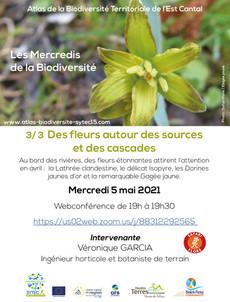 """Webconférence - 3/3 """" Des fleurs autour des sources et des cascades """""""