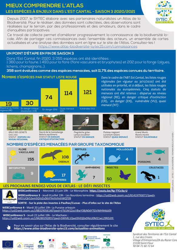 Newsletter 10 - Les espèces à enjeux de l'Est Cantal