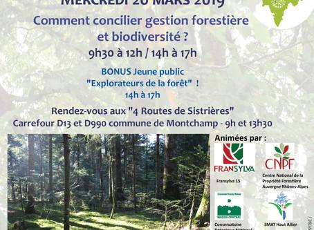 Venez participer à la sortie en Forêt avec Fransylva sur le thème de la biodiversité et la gestion f