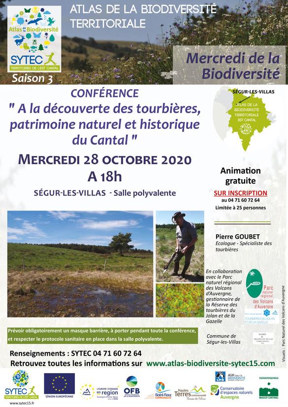 Mercredi de la Biodiversité - Découverte des tourbières, patrimoine naturel et historique du Cantal
