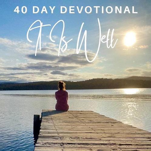 It Is Well - 40 Day Devotional (Paperback)