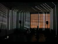 Drums and Drones in light environement by Ursula Scherrer, Studio 10, Brooklyn, 2014