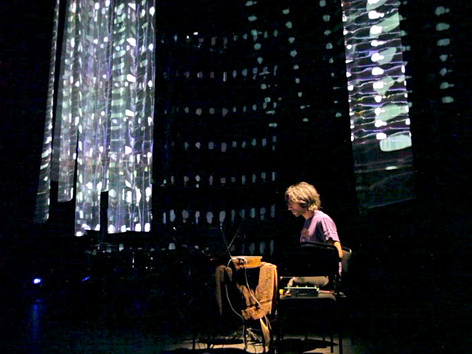 Drums and Drones in light environement by Ursula Scherrer, REDCAT, Los Angeles, 2014