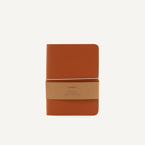 Notebook M • pebbled pu • burnt orange